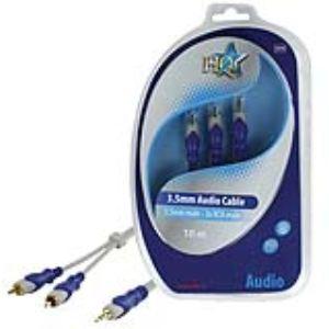 Nds HQSA-040-10 - Câble audio jack 3.5mm vers 2x RCA Males 10 m