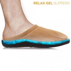 Relax Gel - Chaussons marrons Taille L