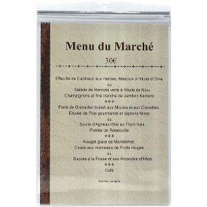 Exacompta 10 pochettes murale en PVC 30/100ème