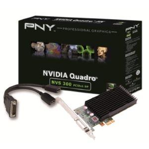 PNY VCNVS300X1DP-PB - Carte graphique Quadro NVS 300 Low Profile 512 Mo DDR3 PCI-E 2.0