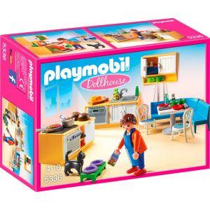 Playmobil 5336 Dollhouse - Cuisine équipée avec coin salon