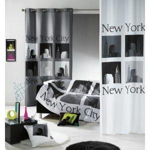 Rideau à oeillets imprimé Urban Pop (140 x 240 cm)