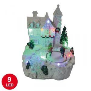 Village lumineux animé 9 LED