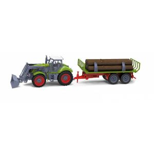 RayLine Tracteur radiocommandé avec remorque de bois