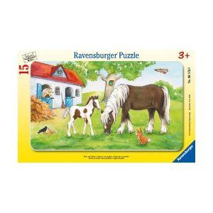Ravensburger Puzzle cadre : Jument et poulain 15 pièces
