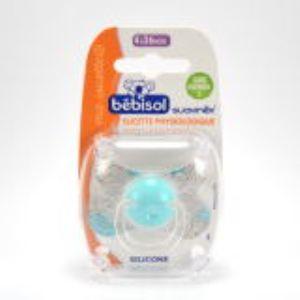 Bébisol 4332035 - Sucette physiologique S en silicone (4-36 mois)