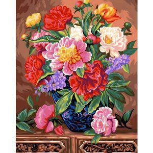 Oz international Peinture au numéro - Maxi : Bouquet de pivoines