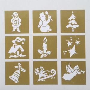 9 pochoirs motifs de Noël