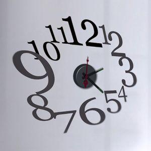 Horloge murale sticker Design Ovale