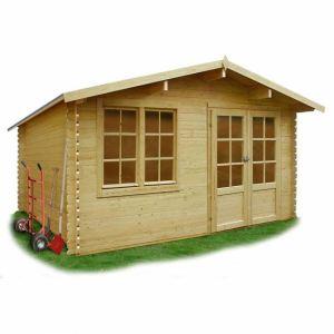 Solid S8386 - Abri de jardin Visp en bois 28 mm 14,35 m2