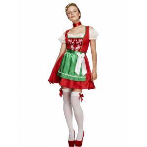 Smiffy's Déguisement serveuse bavaroise rouge femme
