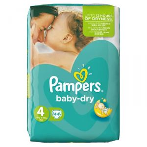 Pampers Baby Dry taille 4 Maxi 7-18 kg - Géant 44 couches