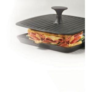 Bialetti 0ltpp021 - Grill en fonte carré  Easy Press (21 x 21 cm)