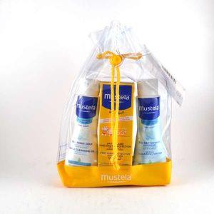 Mustela Set solaire lait SPF50+ + Gel lavant 100 ml + Eau nettoyante 100 ml