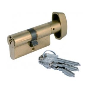 Tesa 503B4030N - Cylindre de serrure TE5 bouton 70mm B40X30 nickele