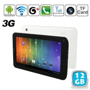 "Yonis Y-tt5g12 - Tablette tactile 7"" 3G sous Android 4 (4 Go interne + Micro SD 8 Go)"