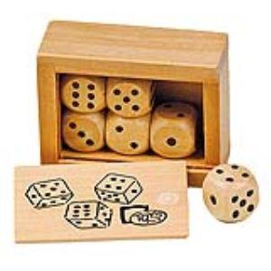 Toys Pure Boîte de 6 dés en bois