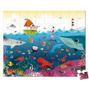 Janod Puzzle valisette Le Monde Sous-Marin 100 pièces