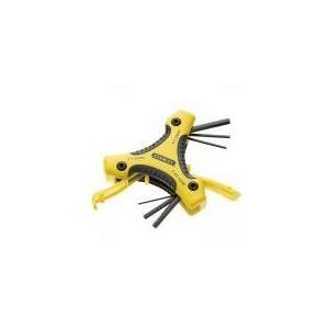Stanley 2-98-026 - Jeu de 9 clés mâles sur support triangle