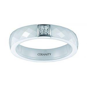 Ceranity 12/0062 B - Bague en argent et céramique pour femme