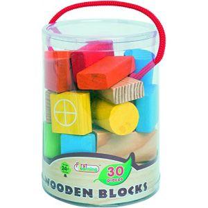First Learning A1502501 - Baril de 30 blocs en bois