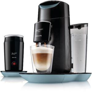 Philips HD7874 Senseo Twist & Milk - Cafetière à dosettes avec mousseur à lait