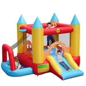 Happy Hop Château de jeux gonflable à air pulsé 4 en 1