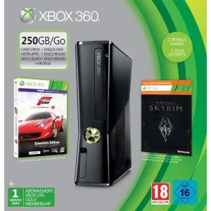 Microsoft Xbox 360 Slim 250 Go + Forza 4 + Skyrim