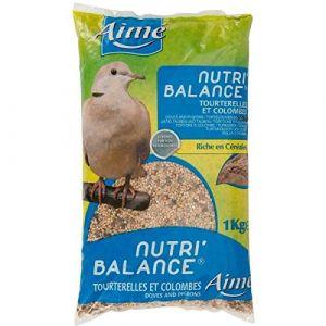 Aimé Nutri'balance - Mélange de graines pour tourterelles et colombes 1 kg