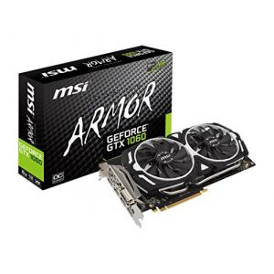 MSI GTX1060ARMOR6GV1 - Carte Graphique GeForce GTX 1060 ARMOR 6G V1