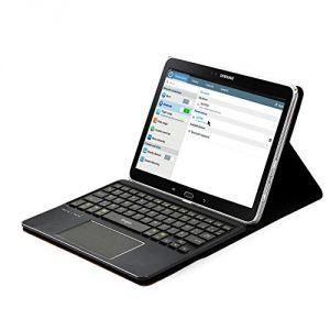 Leicke Etui de protection avec clavier Azerty pour Samsung Galaxy Note 10.1 Edition 2014 et Samsung Galaxy Tab PRO 10.1 avec multitouch et Touchpad intégrés