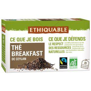 Ethiquable Boîte de 20 sachet thé breakfast bio