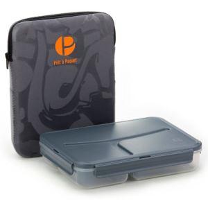 Prêt à paquet Boîte repas LunchBox avec housse en néoprène (1,04 L)