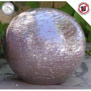 Clair de Terre Caillou - Poterie en terre cuite émaillée forme boule Ø28 x 25 cm