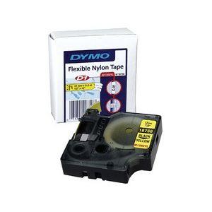 Dymo 18051 - Ruban thermoretractable noir sur blanc 6mm pour Rhinopro