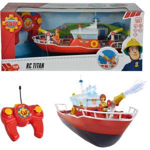 Dickie Toys Bateau de sauvetage Titan Sam le pompier radiocommandé