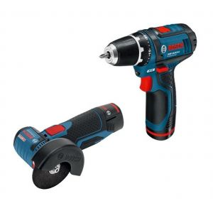 Bosch Professional pack KIT2OUT10V LI5 - perceuse visseuse GSR 10,8-2-LI meuleuse GWS 10,8-76 V-EC