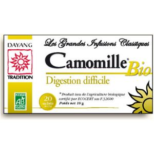 Dayang Infusion camomille Bio - Digestion difficile, boîte 20 sachets