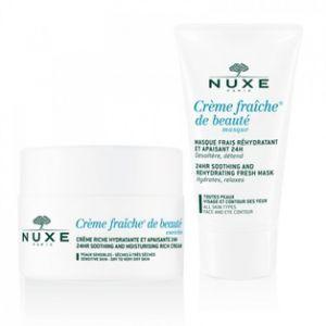 Nuxe Coffret Crème fraîche de Beauté - Crème hydratante enrichie 24H et Masque hydratant
