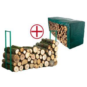 Serre bois + bâche 1,50 x 6 m