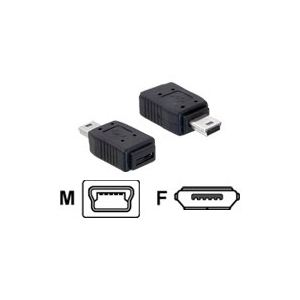 Delock 65155 - Adaptateur USB mini mâle vers micro A + B femelle