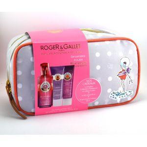 Roger & Gallet Gingembre Rouge - Coffret eau fraîche parfumée, gel douche et lait hydratant