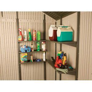 Lifetime Kit 5 étagères pour abri de jardin (76 x 35.6 cm)