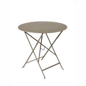 Fermob Bistro - Table de jardin ronde pliante en métal Ø77 cm