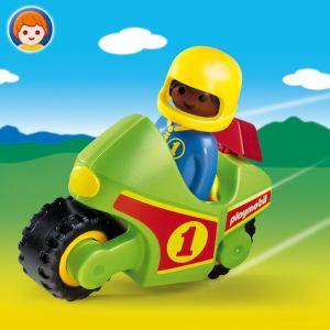 Playmobil 6719 - 1.2.3 : Pilote + Moto de course