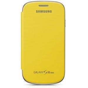 Samsung EFC-1M7FYEC - Éui en cuir à rabat pour Galaxy S3 Mini