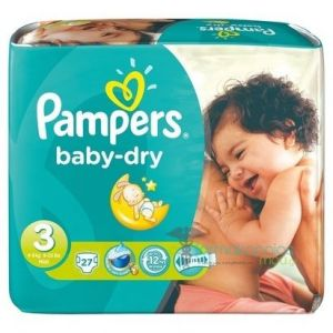 Pampers Baby Dry taille 3 Midi 4-9kg - 27 couches