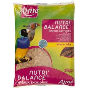 Aimé Nutri'balance - Mélange de graines pour oiseaux exotiques 3 kg