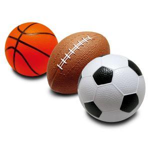 Moov'ngo Ballons en mousse : Foot, Rugby, Basket