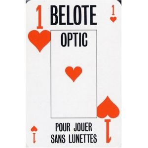 France Cartes Jeu de 32 cartes Belote Optic